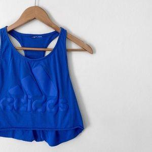 adidas • blue cropped workout tank